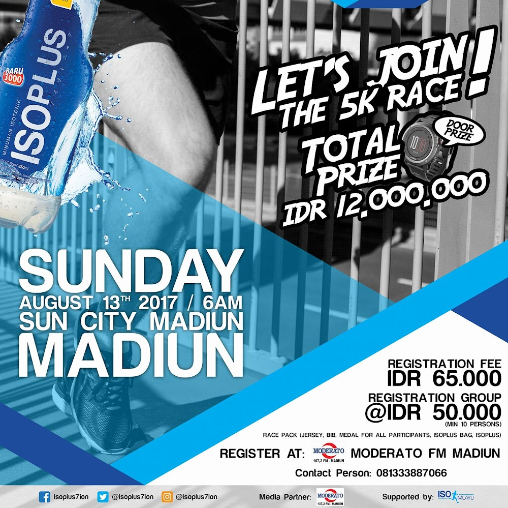 Isoplus City Run - Madiun • 2017
