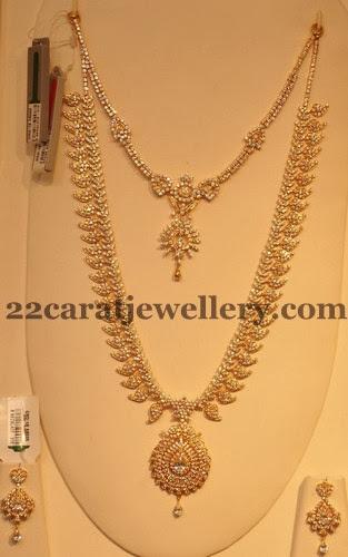 Grt S Diamond Mango Set Jewellery Designs