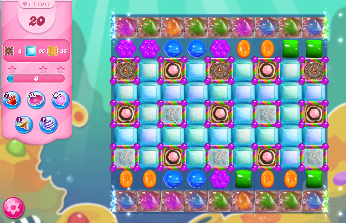 Candy Crush Saga level 7017