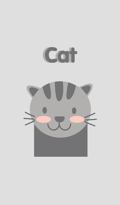 Simple gray cat