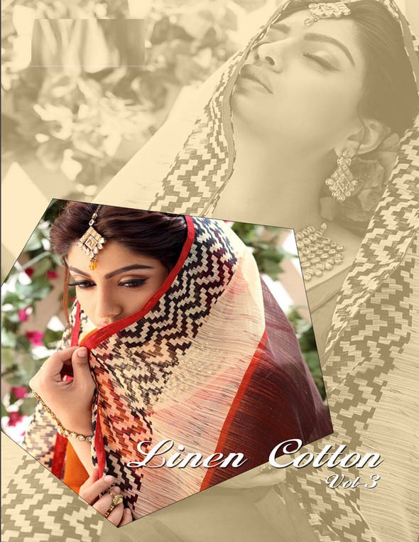 LINEN COTTON – 3 – New Arrival Designer Cotton Saree For women