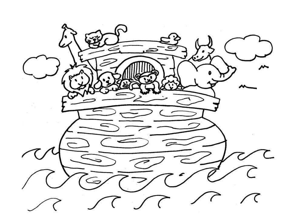 Dibujos Para Colorear Del Arca De Noe Para Imprimir: Evangeliza!: Arca De Noé Para Colorir