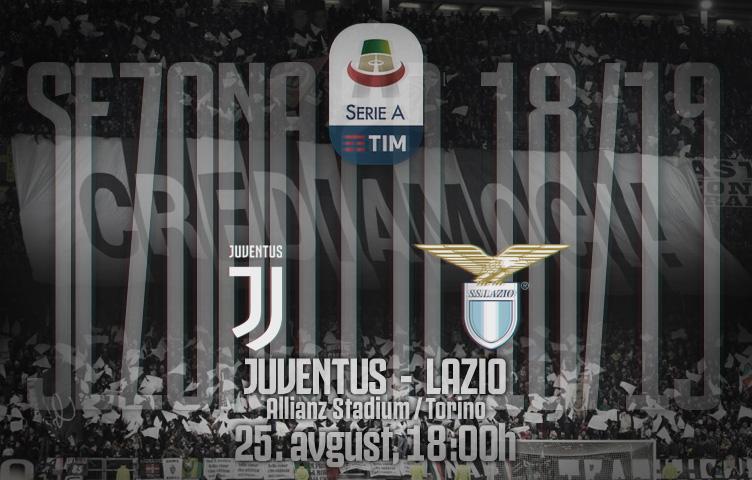 Serie A 2018/19 / 2. kolo / Juventus - Lazio, subota, 18:00h