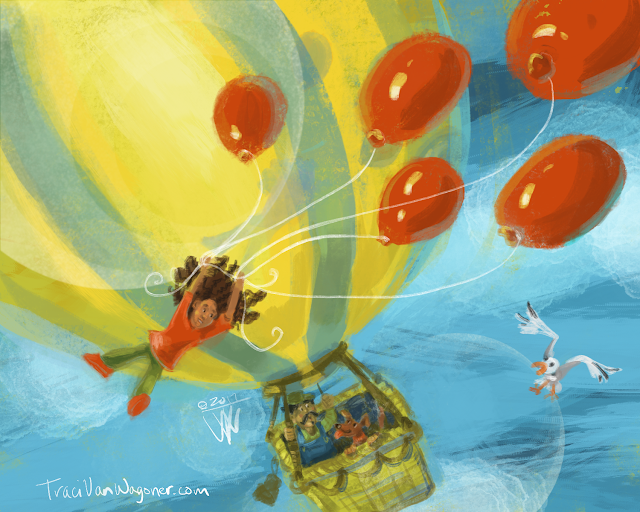 Balloon LIft Off 6: Balloon Crossing by Traci Van Wagoner an illustrated adventure