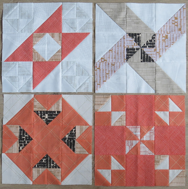 HST Quilt-Along - Blocks #13 to #16 - Carolyn Friedlander fabrics
