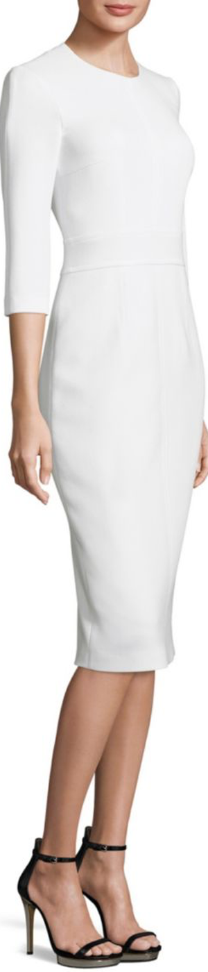 Michael Kors Collection Solid Stretch Wool Dress