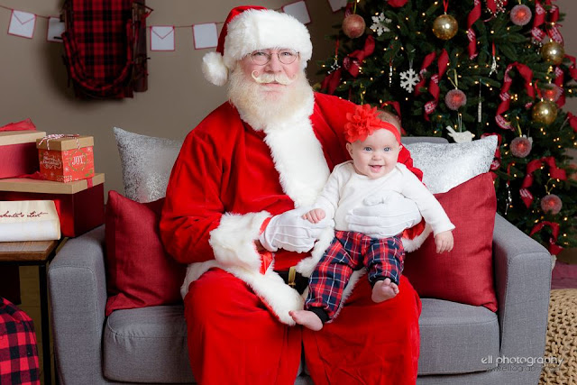 3 month old baby with Santa in Albuquerque