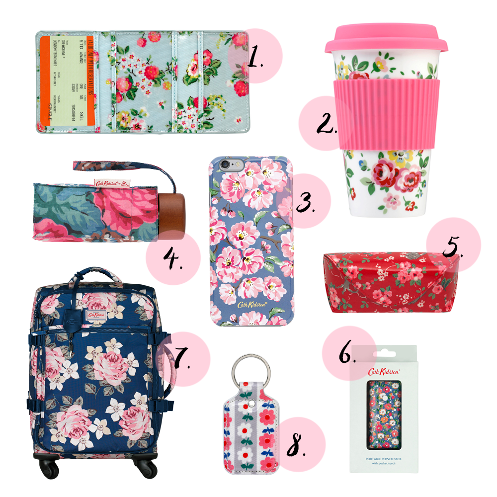 Cath kidston, traveller guide, easter, wish list, suitcase, keyring,