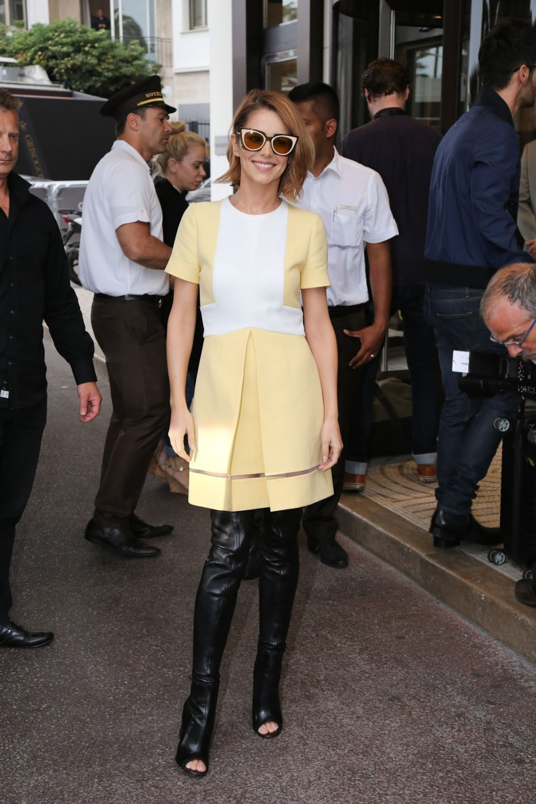 HQ Photos of Cheryl Cole arrives at Grand Hyatt Cannes Hotel Martinez