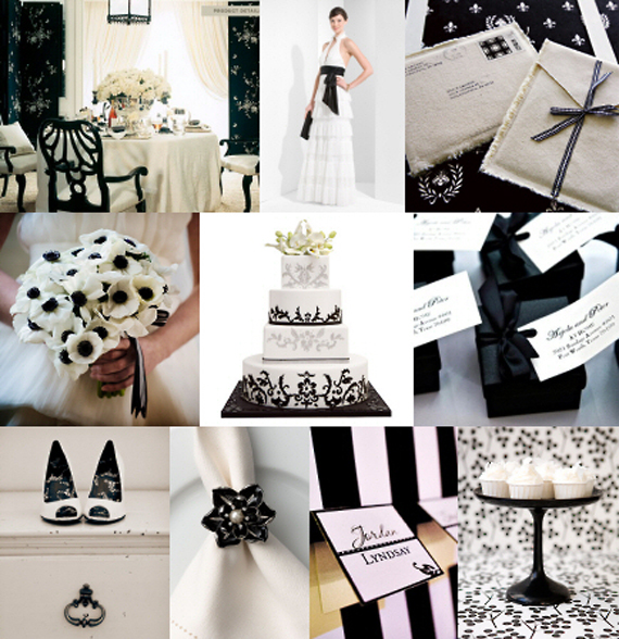 Wedding White Theme: Wedding Inspiration Center: 2012 Elegant Black And White