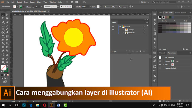 Cara mengelompokan objek di illustrator (AI) + video