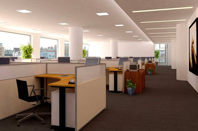 Looking for office lighting fixtures that maximize the light efficiency of the bulbs 34