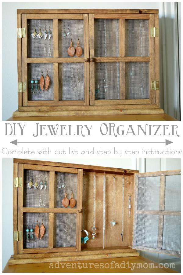 how to build a jewelry organizer