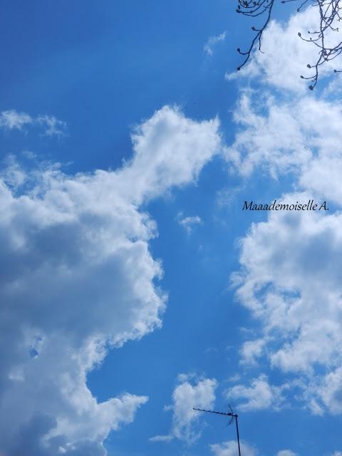 France - Centre - Cher - Ciel bleu et nuages