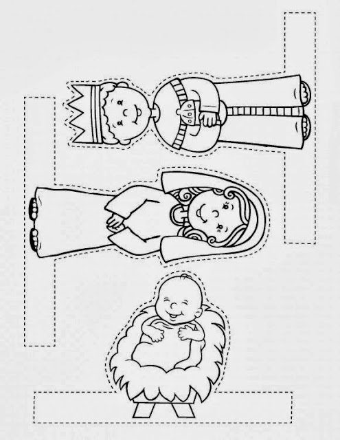 Gratifying image for printable nativity scenes