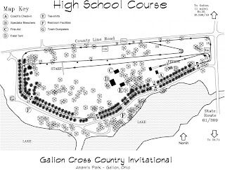 A map of a cross country course