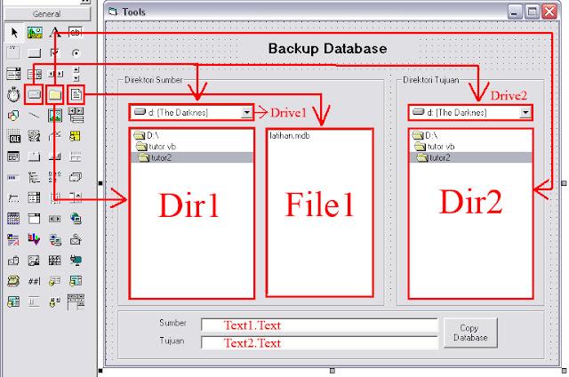 Cara Membuat Program Backup Database Dengan Visual Basic 6.0