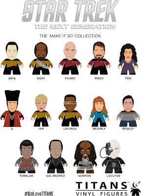 "Star Trek: The Next Generation Titans ""Make It So"" Mini Figure Blind Box Series by Titan Merchandise & Matt Jones"