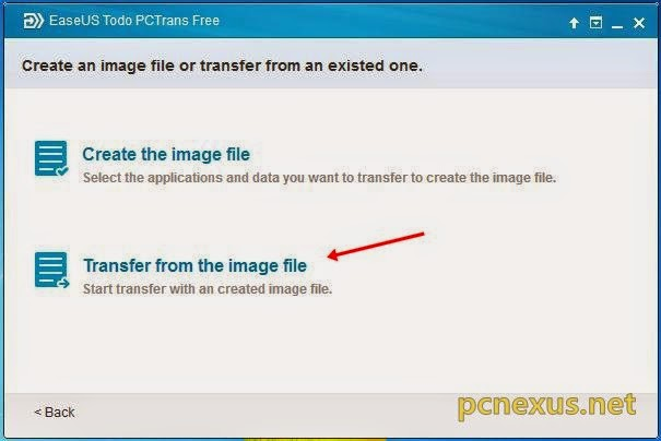restore from image file