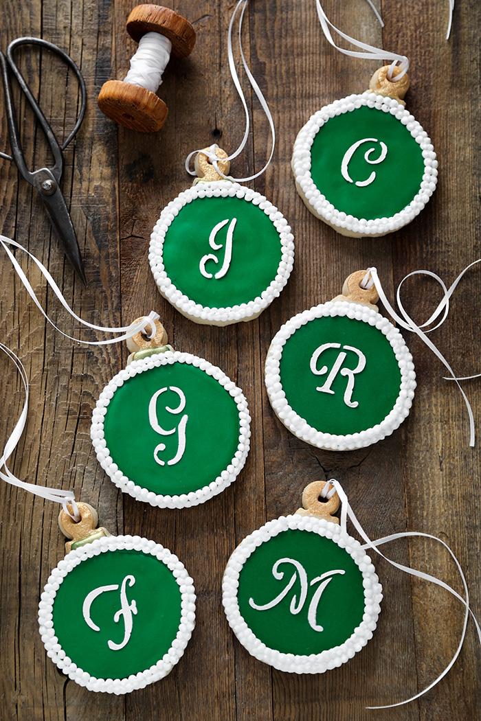 Monogram Shortbread Ornament Cookies Recipe