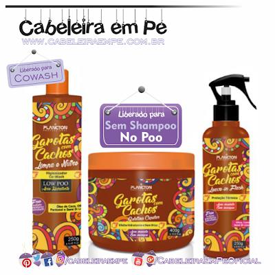 Produtos Liberados da linha Garota com Cachos - Plâncton Cosméticos (Cowash, Leave in em spray e gelatina liberadas para No Poo)
