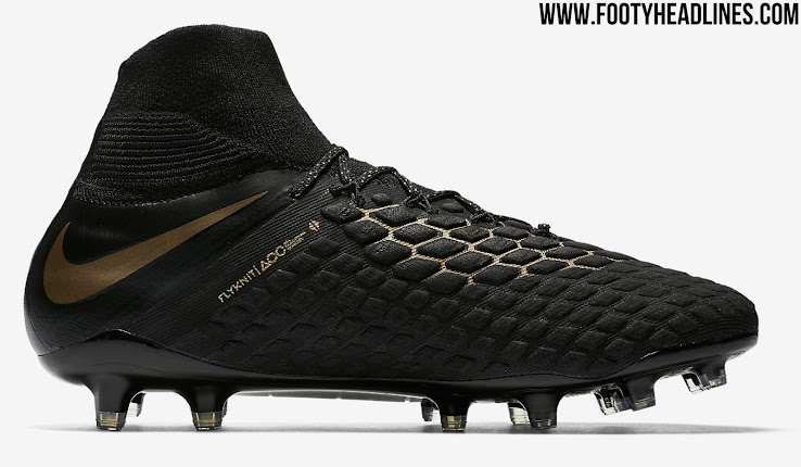 premium selection 9833e cd973 Special Edition Black / Gold Nike Hypervenom Phantom 3 'Game ...