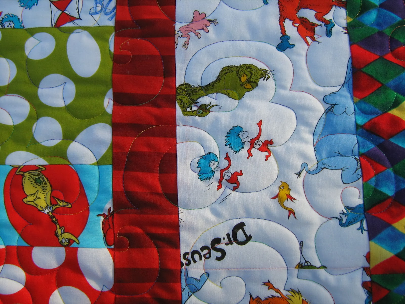 Inch By Inch Quilting Dr Seuss Quilt By Lorna