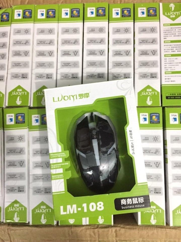 Chuột có dây chuyên game LM-108 đèn 7 màu giá sỉ