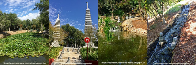 Jardim da Tranquilidade e Torre de Pagodes.