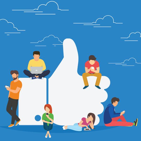 social media users sharing content