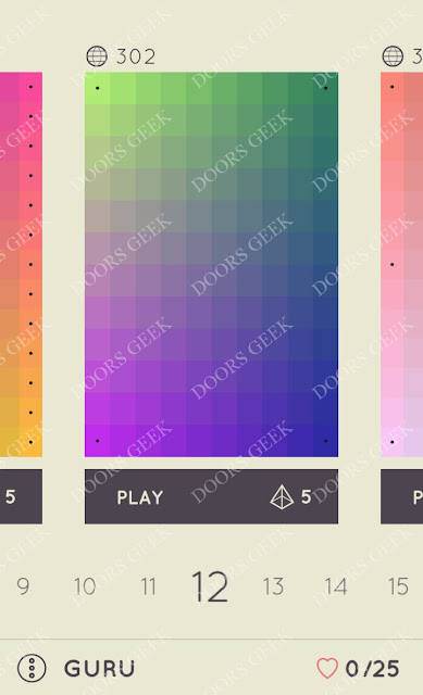I Love Hue Guru Level 12 Solution, Cheats, Walkthrough