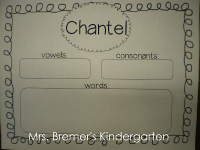 FREE Morning Message template to practice names & vowels and consonants