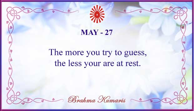 Thought For The Day May 27