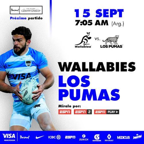Australia - Argentina (en vivo, Rugby Championship, ESPN 2)