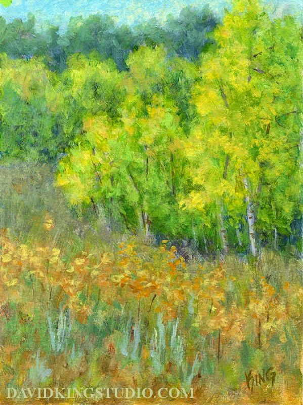 art painting autumn fall foliage color nature aspen