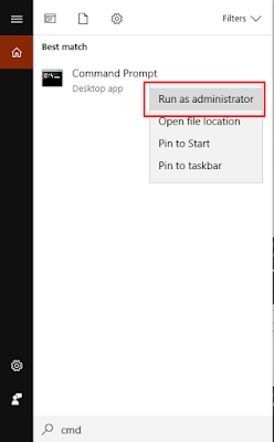 run as administrator cmd