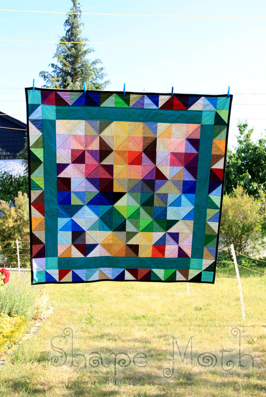 Quilt Story Shattered Rainbow Quilt By Shapemoth