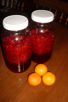 Cranberry Liqueur, part of our December blitz of recipes!