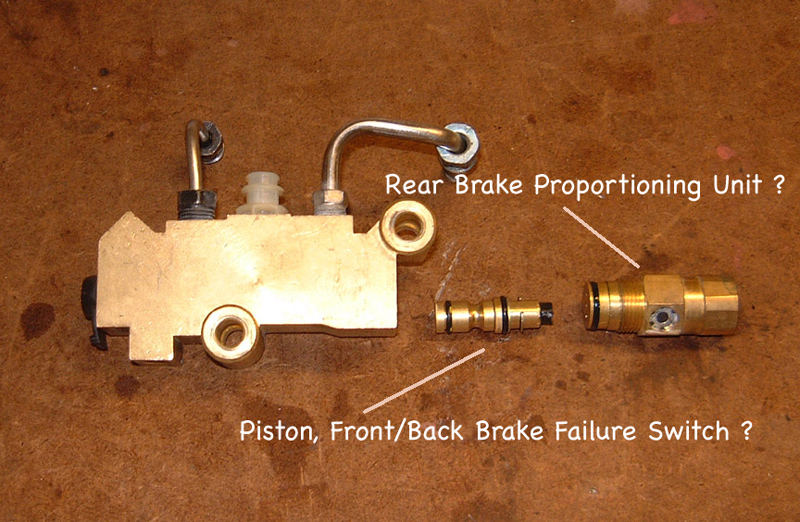 1970-1973 Corvette Brake Line Distribution Block Switch