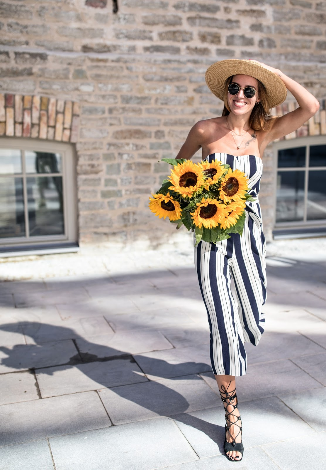banker stripes jumpsuit summer outfit