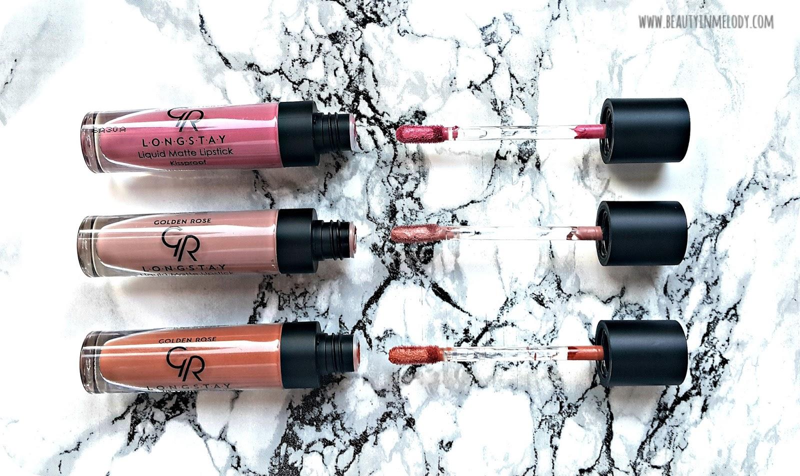 Beautymelody Golden Rose Longstay Liquid Matte Lipsticks 03 10
