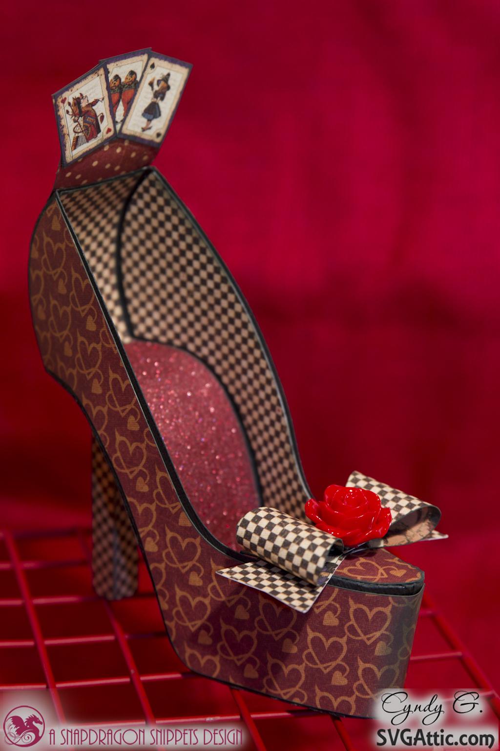 Paper Shoe Heel Template