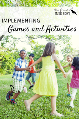 Implementing games and activities: How to implement games into your yearly and daily music lessons!