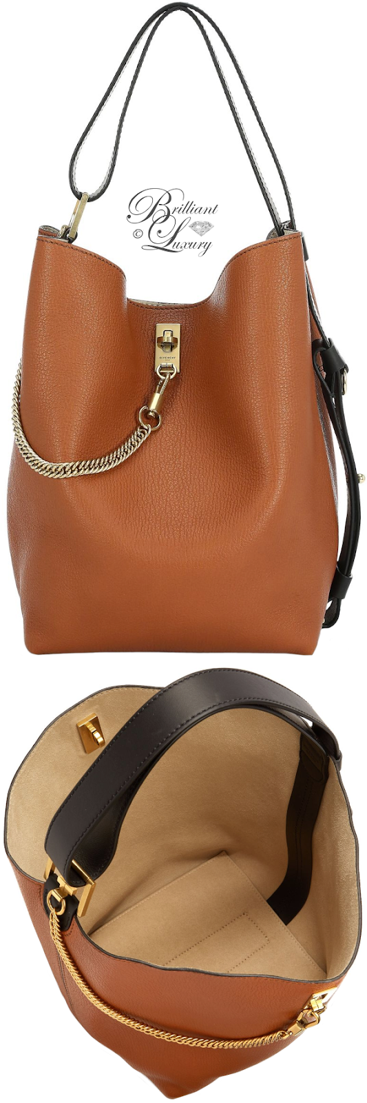 Brilliant Luxury ♦ Givenchy Medium GV3 Bucket Bag