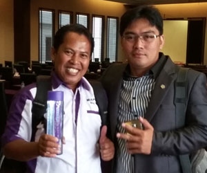 Saya dan Kang Dedde, Top Income Nasional dari Bandung.  Foto Om Agus
