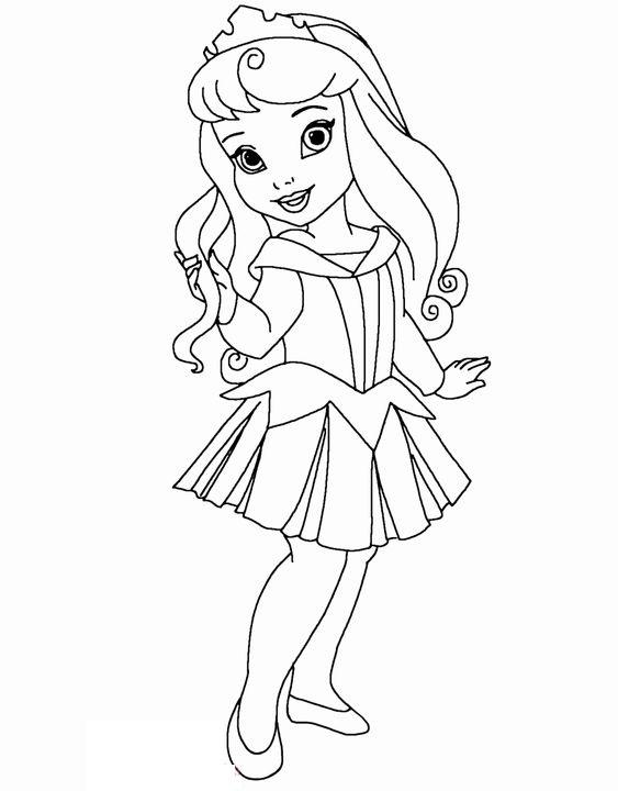 Tranh tô màu chibi công chúa Aurora