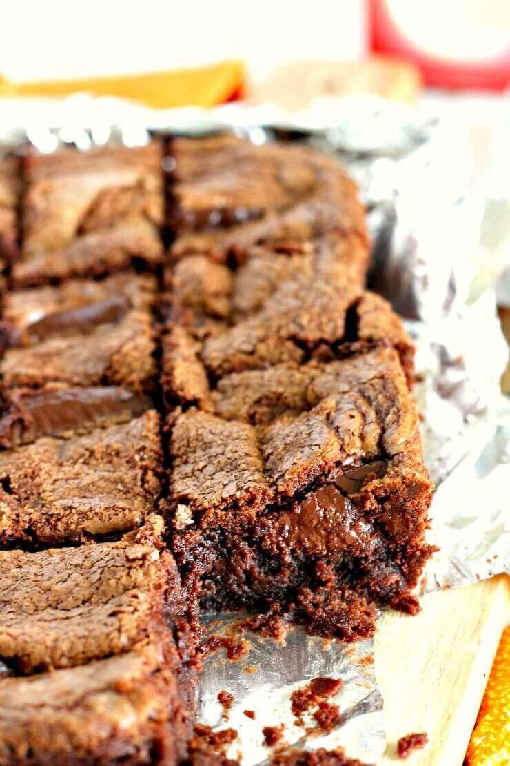 Dark Chocolate Orange Brownies