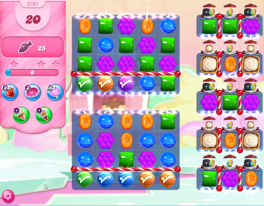 Candy Crush Saga level 3701