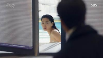 Screenshot Cheong On Swimming Pool and Joon Jae Coming The Legend Of The Blu Sea (2016)  1080p Episode 08 - www.uchiha-uzuma 01