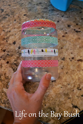 Make the DIY Homework Caddy cute by decorating with washi tape!